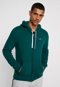 Hollister Co. - CORE ICON - Zip-up hoodie - emerald - 0