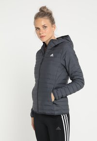 adidas Performance - VARILITY SOFT HOODED OUTDOOR DOWN JACKET - Winter jacket - carbon - 0