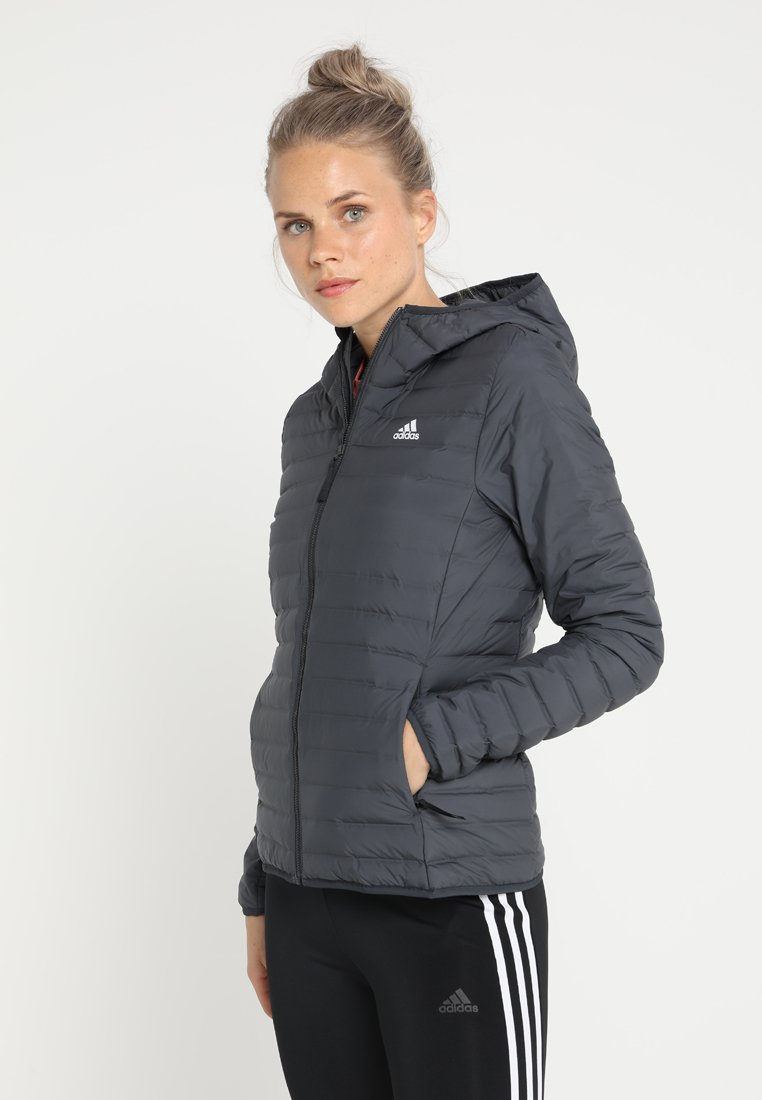 adidas Performance - VARILITY SOFT HOODED OUTDOOR DOWN JACKET - Winter jacket - carbon