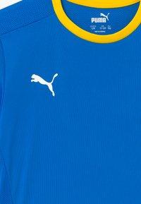 Puma - T-Shirt print - electric blue/cyber yellow - 2