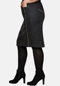 Sheego - Pencil skirt - black denim - 3