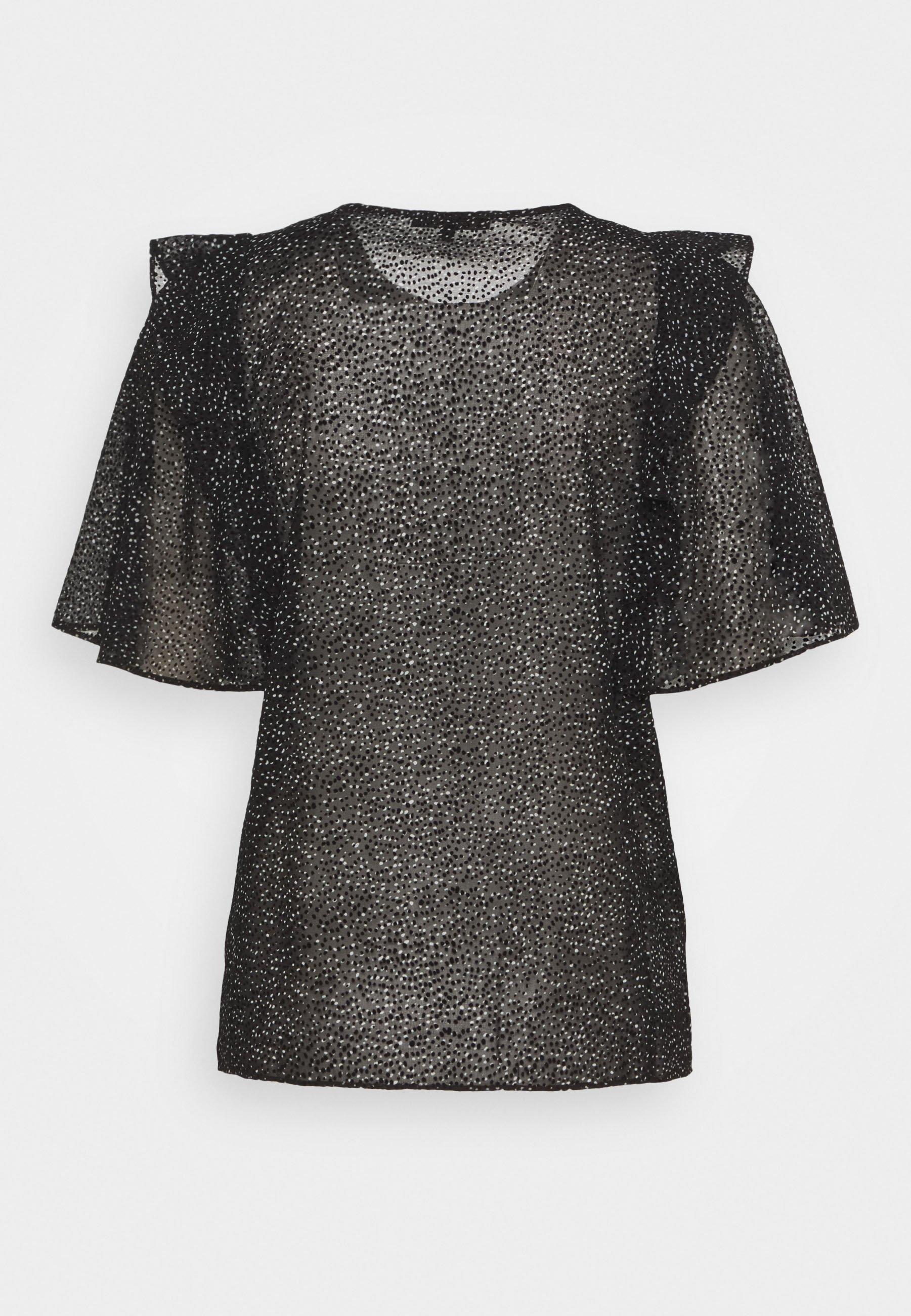 Maje Lollin - T-shirts Med Print Blanc/noir/hvit