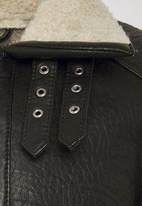 Be Edgy - AUSTIN - Leather jacket - black/white - 4