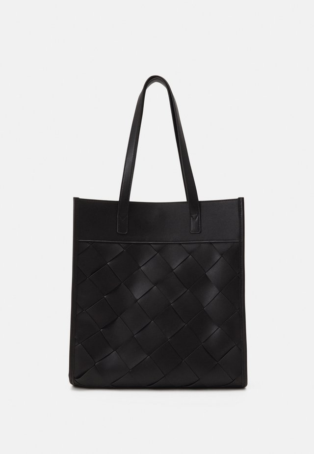 BRAIDED TOTE - Tote bag - black