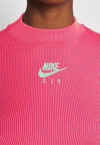 Nike Sportswear - AIR MOCK - Long sleeved top - fireberry/bright mango/white - 5