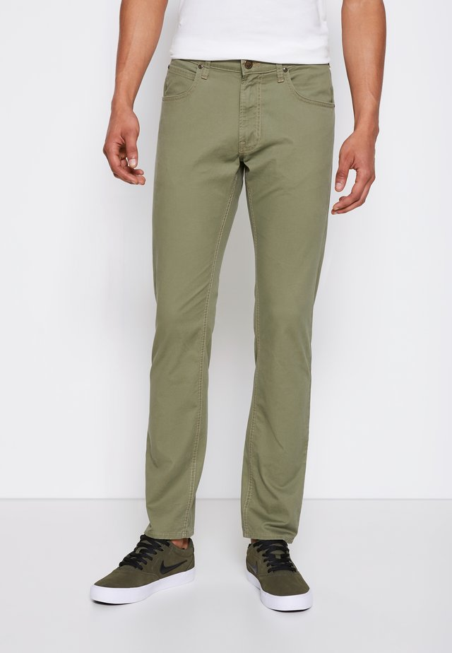 DAREN ZIP FLY - Pantaloni - lichen green