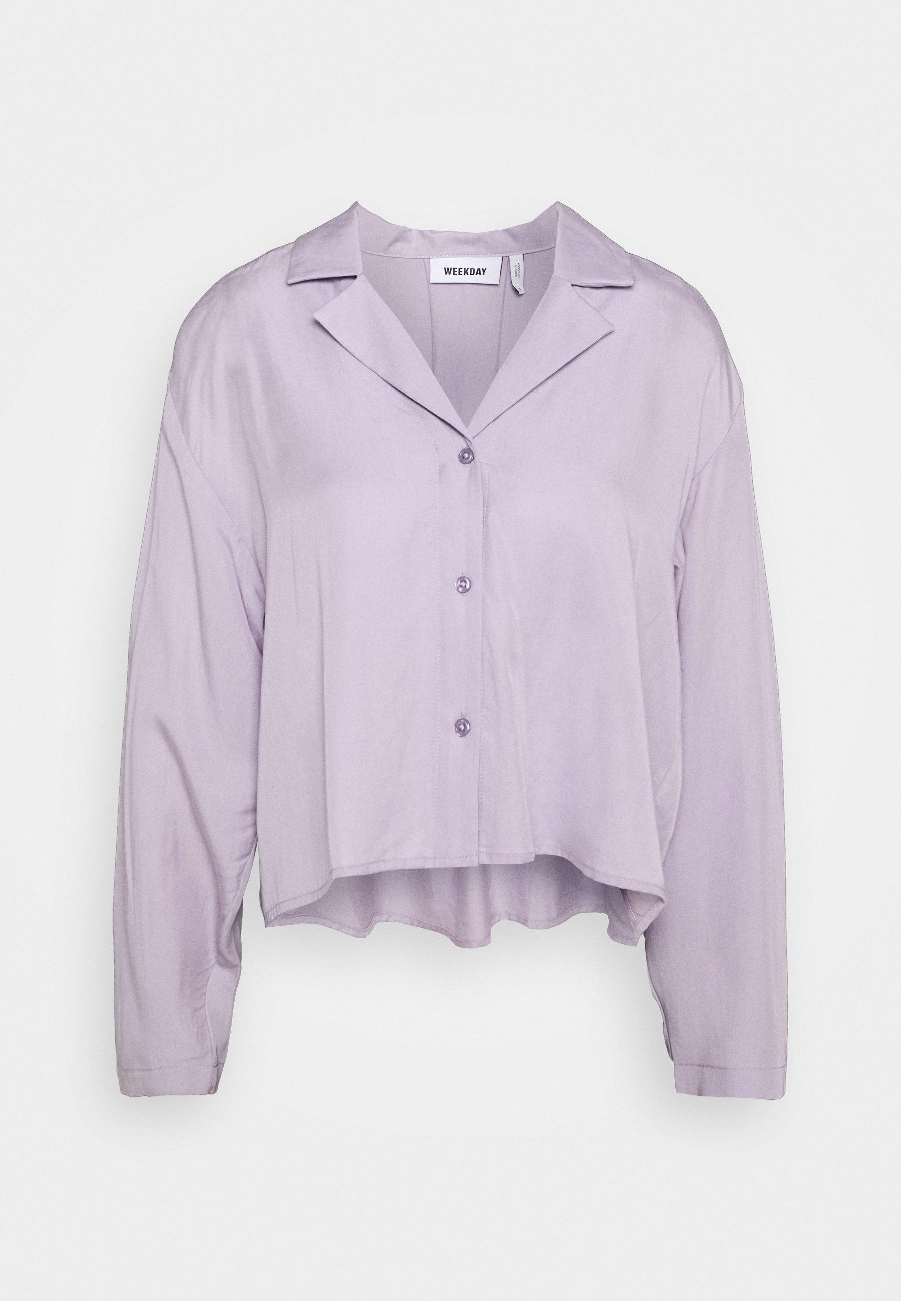 Weekday FILIPPA BLOUSE - Skjortebluser - dusty purple -  3wvib