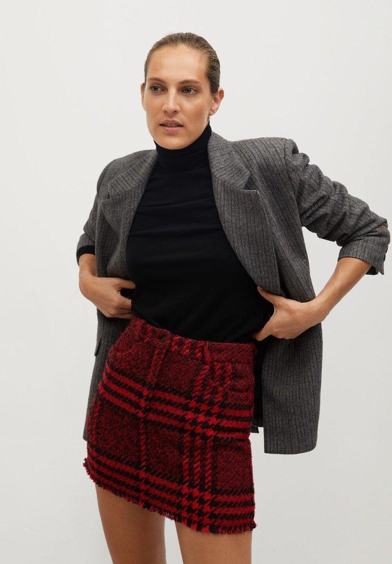 Mango - ANNA - A-line skirt - rouge