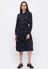 Finn Flare - Shirt dress - dark blue - 1