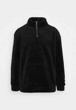 FLUFFY HIGH NECK  - Fleece jumper - black