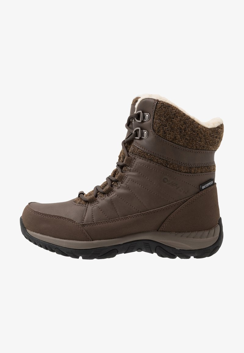 Hi-Tec - RIVA MID WP - Snowboot/Winterstiefel - dark brown/beige