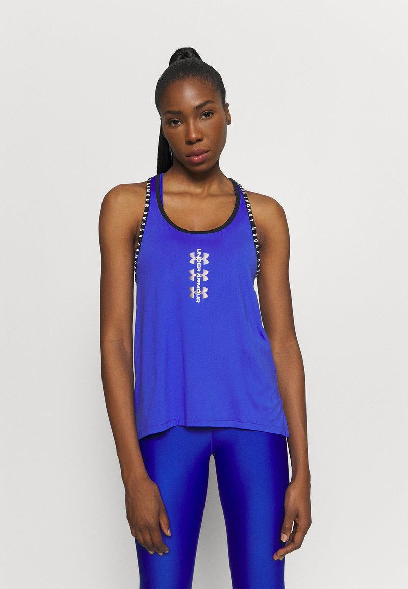 Under Armour - KNOCKOUT TANK - Sports shirt - emotion blue
