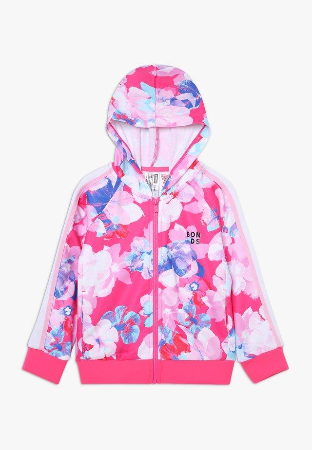 LOGO ZIP HOODIE - veste en sweat zippée - hibiscus