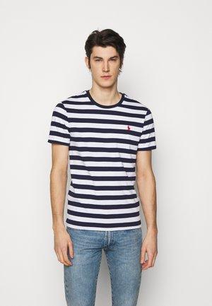 T-shirts print - white/french navy