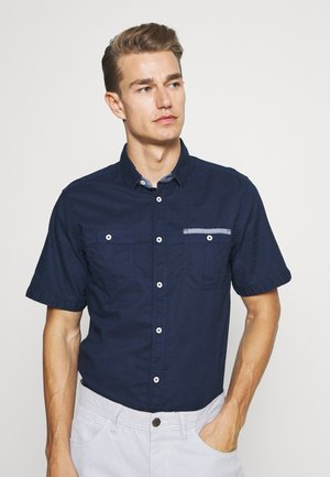 RAY SLUB DOUBLE POCKET - Overhemd - black iris blue