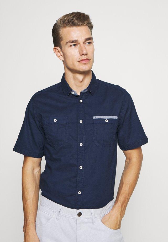 RAY SLUB DOUBLE POCKET - Shirt - black iris blue