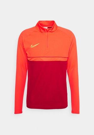 ACADEMY DRIL - Sports shirt - gym red/bright crimson/volt