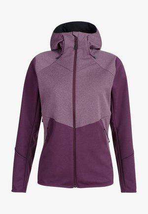 Outdoor jacket - blackberry-blackberry melange