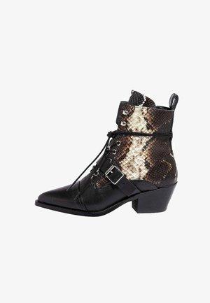 KATY  - Cowboy/biker ankle boot - multi snake