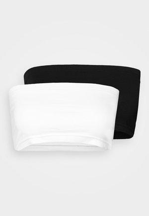 BANDEAU TOP 2 PACK - Biustonosz bustier - black/white