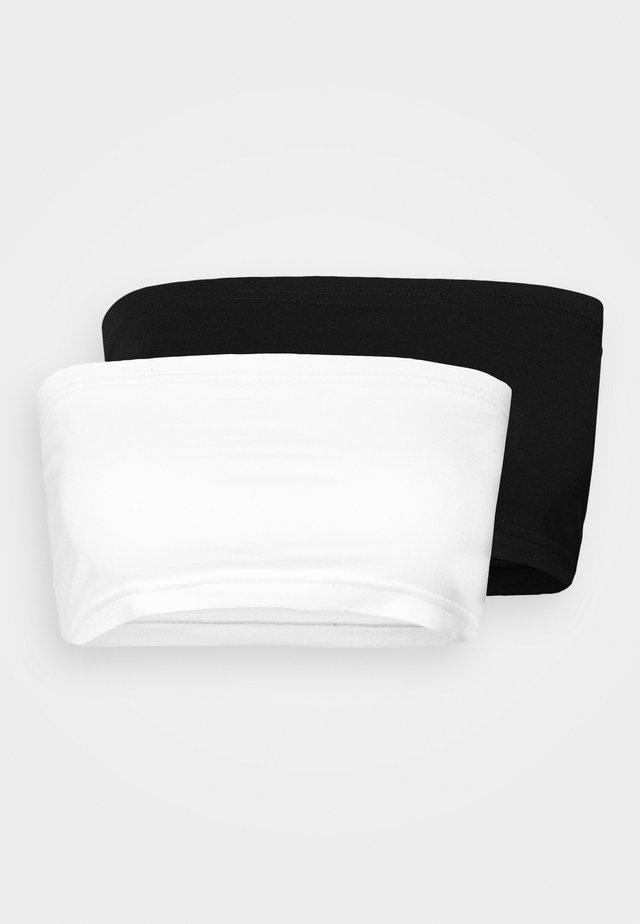 BANDEAU TOP 2 PACK - Bustier - black/white