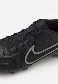 Nike Performance - TIEMPO LEGEND 9 CLUB FG/MG - Moulded stud football boots - black/iron grey/metallic bomber gry - 5
