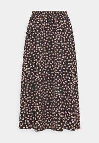 Pieces - PCDALLAH MIDI SKIRT - A-line skirt - black/pink - 0