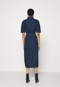 ONLY - ONLCLARITY LIFE PUFF - Vestito di jeans - dark blue denim - 2