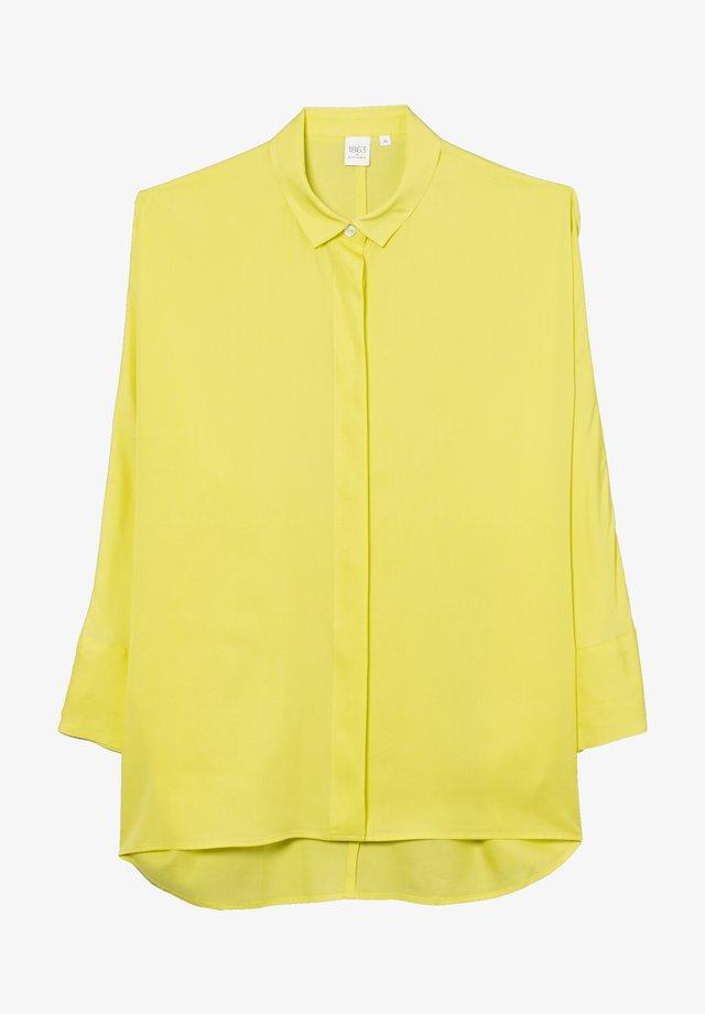 Button-down blouse - neon gelb