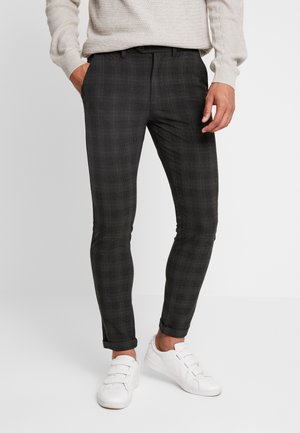 JJIMARCO JJCONNOR CHECK - Pantalones chinos - dark grey