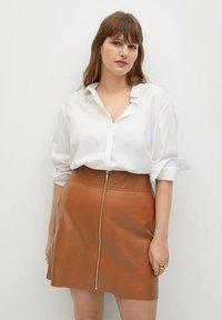 Violeta by Mango - A-line skirt - mittelbraun - 0