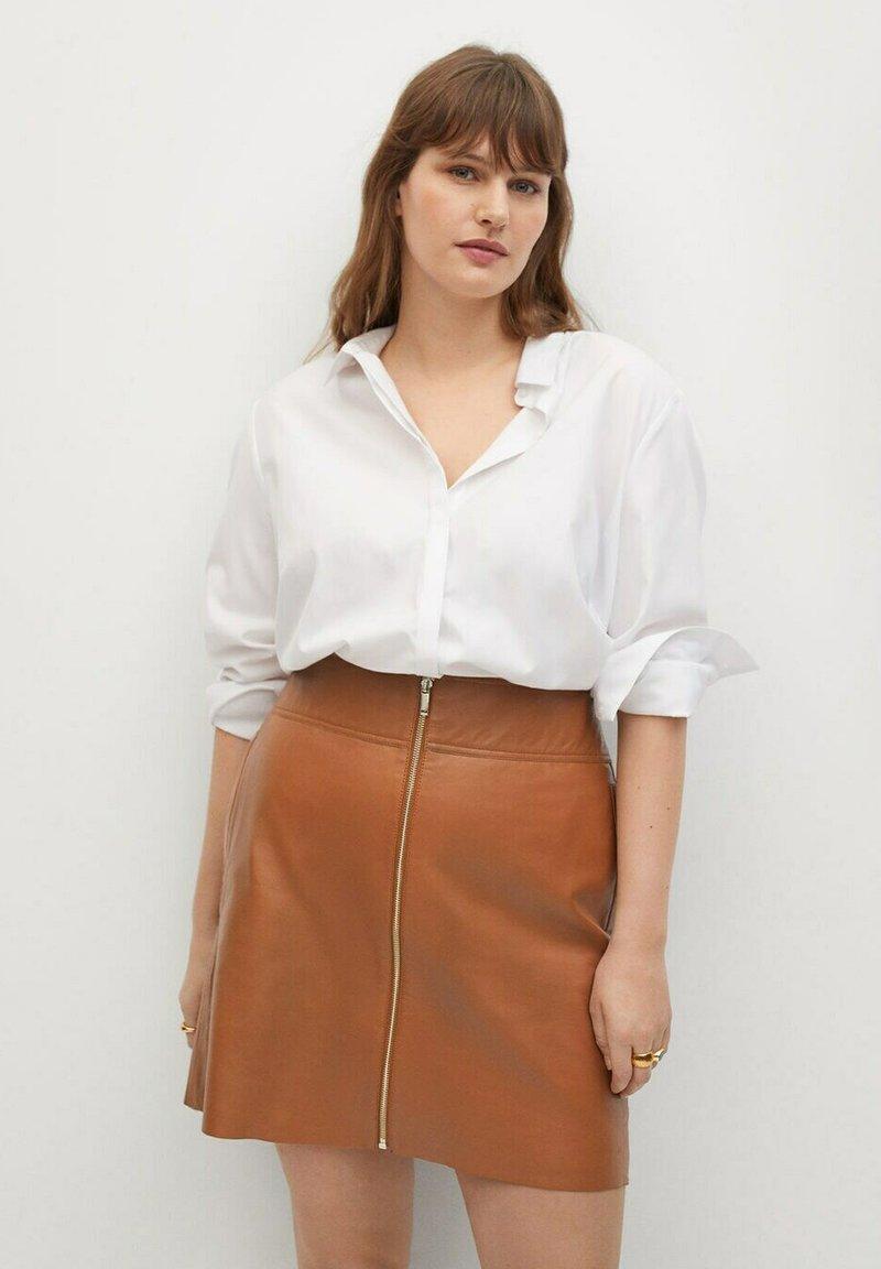 Violeta by Mango - A-line skirt - mittelbraun