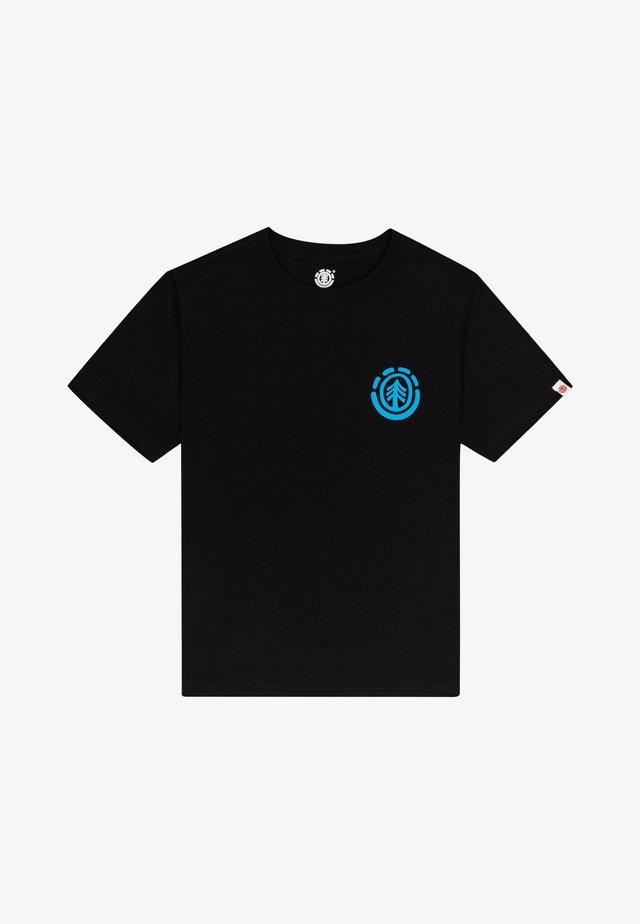 T-shirt print - flint black