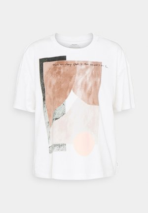 ROUNDNECK PHOTO - Print T-shirt - scandinavian white