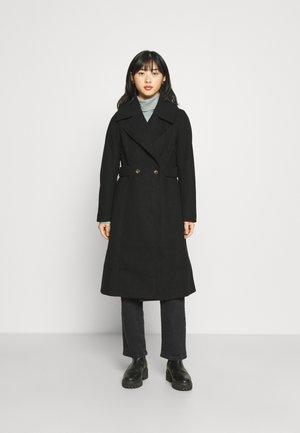 HAZEL TAB SIDE COAT WITH VOLUME LAPEL - Classic coat - black