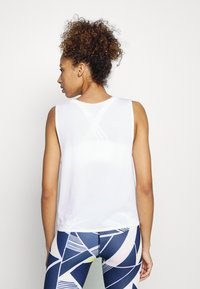 GAP - TIE FRONT MUSCLE TANK - Topper - optic white - 2