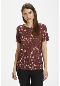 russet brown asian floral