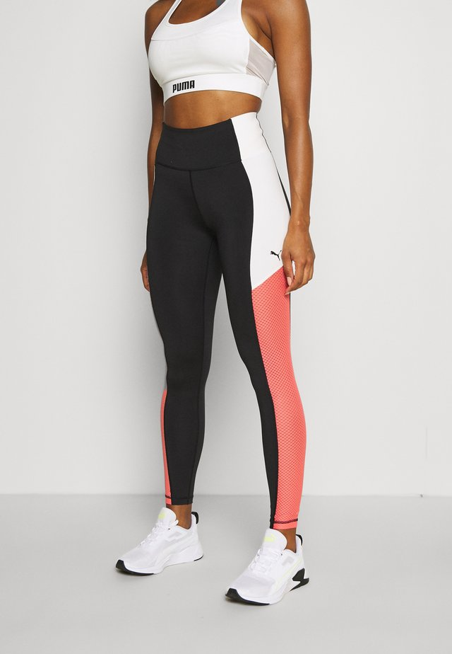 TRAIN BONDED HIGH WAIST FULL - Legging - black/georgia peach