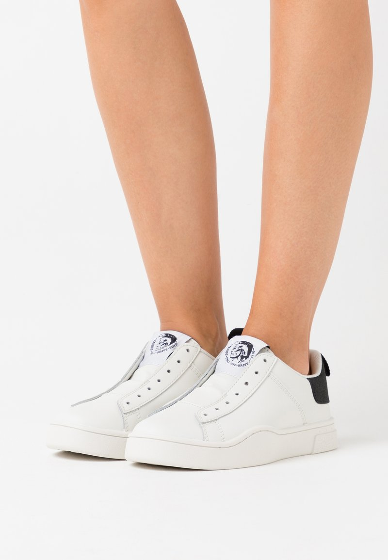 Diesel - CLEVER S-CLEVER SO WSNEAKERS - Slip-ons - white/black