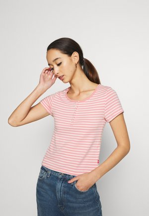 MEG HENLEY TEE - T-shirts print - aya blush