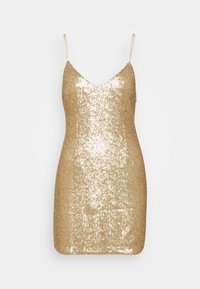 Abercrombie & Fitch - PARTY SEQUIN MINI DRESS - Juhlamekko - gold - 0