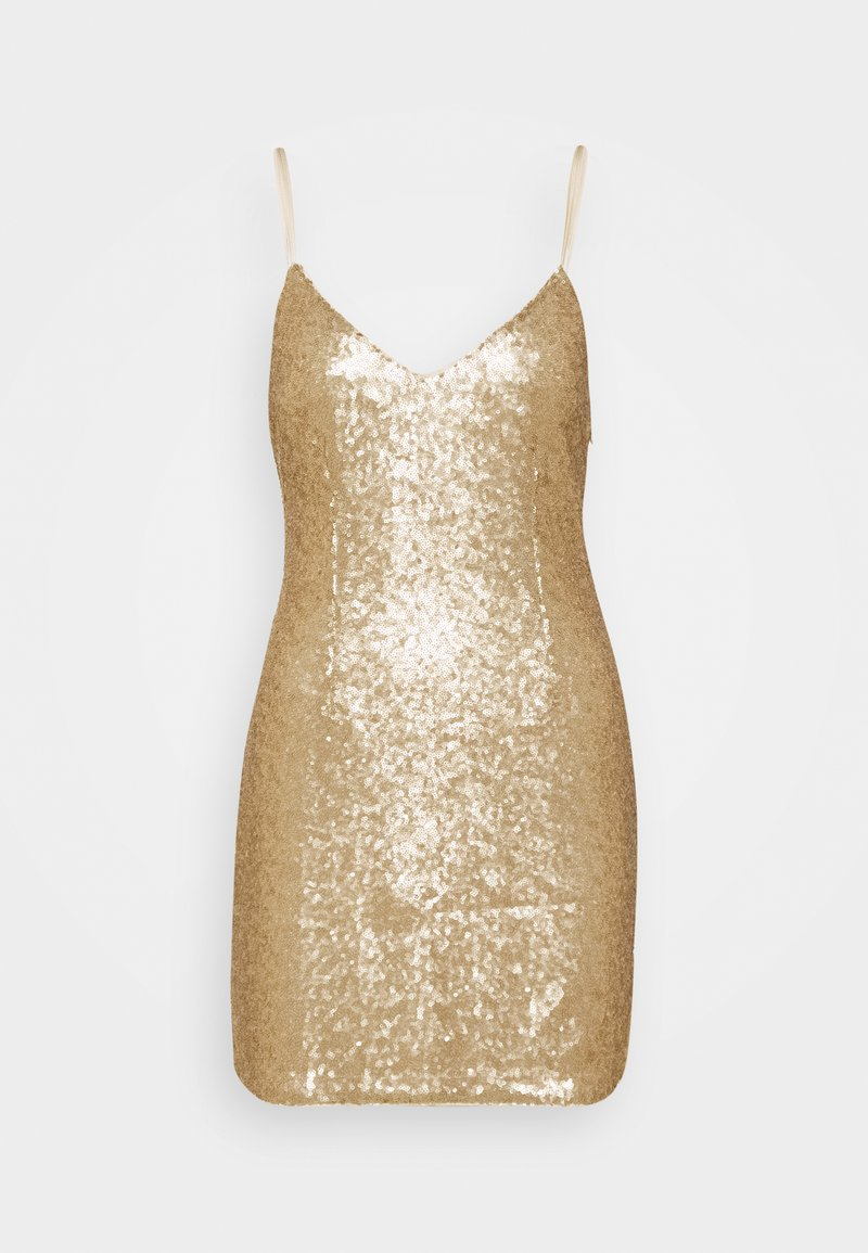 Abercrombie & Fitch - PARTY SEQUIN MINI DRESS - Juhlamekko - gold