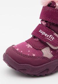 Superfit - GLACIER - Winter boots - rot/rosa - 5