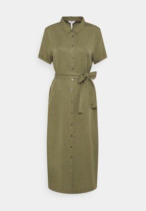 OBJTILDA ISABELLA - Shirt dress - deep lichen green
