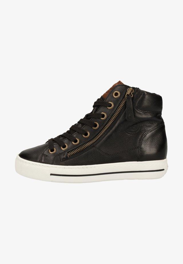 Sneakers hoog - schwarz/mittelbraun 027