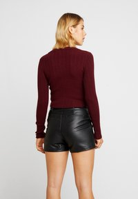 Nly by Nelly - CROPPED CARDIGAN - Chaqueta de punto - wine - 2