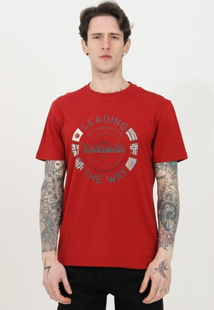 Print T-shirt - rosso
