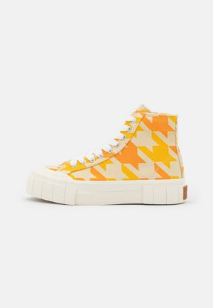 PALM DOGSTOOTH UNISEX - Sneakers hoog - yellow
