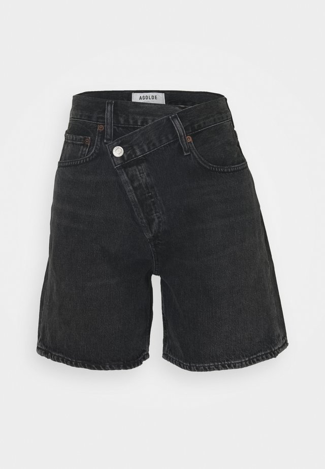 CRISS CROSS - Short en jean - photogram