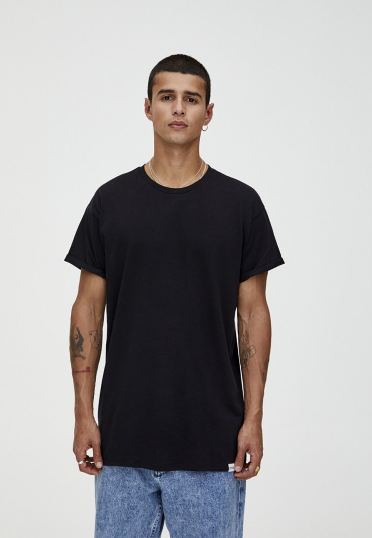 PULL&BEAR - T-shirt basic - black